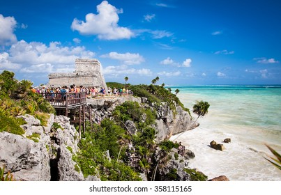 Mayan Ruins of Tulum, Yucatan, Mexico.Latin America.
