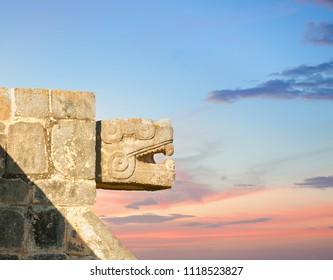 Mayan temple, Chichen Itza, Mexico.