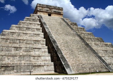 The Mayan Temple pyramid in Cancun, Mexico