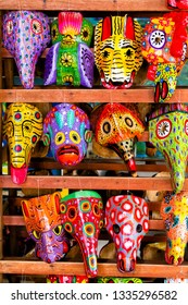 Mayan Wooden Masks for sale in Granada, Nicaragua, Central America