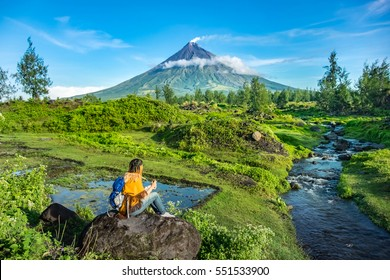 """Mayon Volcano is an active stratovolcano in the province of Albay in Bicol Region, on the island of Luzon in the Philippines. Renowned as the """"perfect cone"""" because of its symmetric conical shape"""