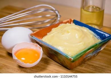 Mayonnaise eggs bowl
