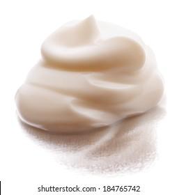 Mayonnaise swirl  isolated on white background cutout
