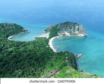 Mayotte coast from a plane