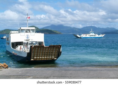 Mayotte, France - 31 May 2007: two ferries that cross at Mayotte island, France