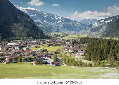 Mayrhofen the holiday village in Tirol Zillertal