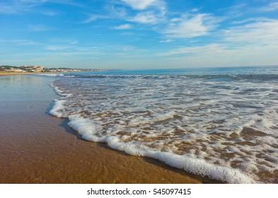 Mazagon Beach textures , Las Dunas Beach, Huelva, Andalusia, Atlantic coast , Spain