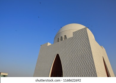 Mazar-e-Quaid - Mausoleum of the founder of Pakistan, Muhammad Ali Jinnah. Famous landmark of of Karachi city in Pakistan.