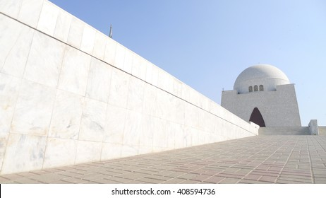 Mazar-e-Quaid - mausoleum of the founder of Pakistan, Muhammad Ali Jinnah. Iconic symbol of Karachi in Pakistan
