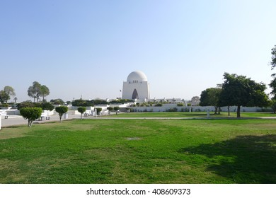 Mazar-e-Quaid - The most famous Mausoleum of the founder of Pakistan, Muhammad Ali Jinnah in Karachi - Pakistan