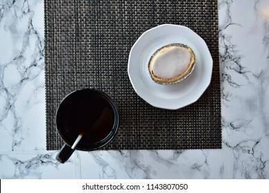 Mazariner and black cofee (Swedish almond tart Mazarin)