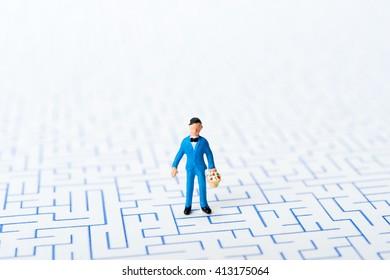 Maze, man,