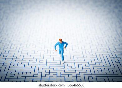 Maze Running Man Stock Photo (Edit Now) 366466694 - Shutterstock