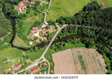 Mazury-river Krutynia in north-eastern Poland