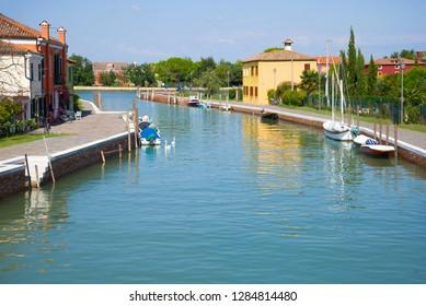 Mazzorbo Island on a sunny day. Venice, Italy
