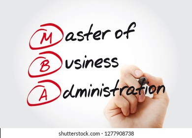 MBA - Master of Business Administration with marker, acronym business concept