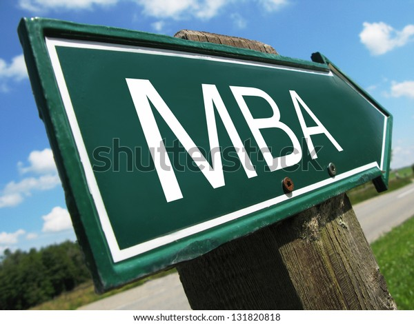 MBA road sign