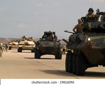 MCAS Miramar, CA - OCTOBER 5: Demonstration of US army marine corps October 5, 2008 on MCAS Miramar, CA.