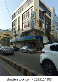 MCB bank building in zamzama street  - Karachi Pakistan - Sep 2020
