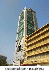 MCB Bank Tower at financial hub of Pakistan i.e. II Chundrigar Road. MCB is one of the biggest bank in Pakistan - Karachi Pakistan - Dec 2019