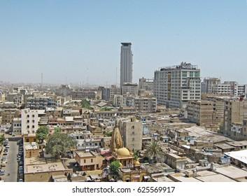 MCB Tower - City scape of Karachi, Pakistan - 07/05/2009