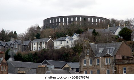 Mccaigs tower in Oban Scotland UK