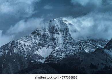McDonald peak, mission mountain range.