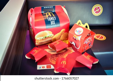 LopBuri - Thailand,29/06/2020: The McDonald's logo has branches around the world. The legendary deliciousness of McDonald's hamburgers began in the 1940s. Dick & Marice, McDonald's two brothers.