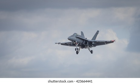 A McDonnell Douglas F/A-18 Hornet aircraft in flight