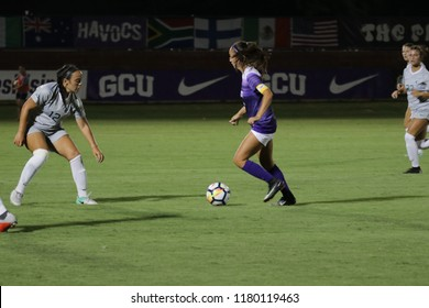Mckenze Cook forward for the Grand Canyon Lopes at GCU Stadium in Phoenix,AZ USA September 13,2018.