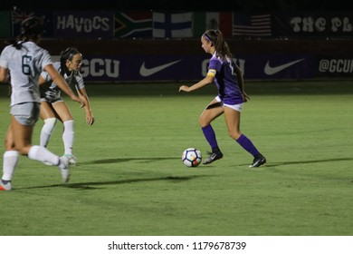McKenzie Cook midfielder for the Grand Canyon University Lopes at GCU Stadium in Phoenix,AZ USA September 13,2018.