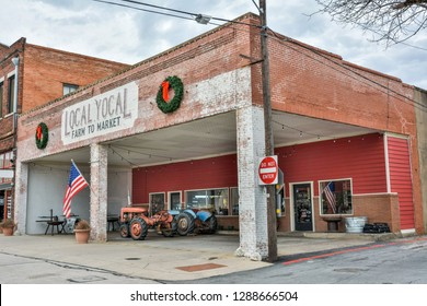 McKinney, Texas, United States of America - January 16, 2017. Exterior view of Local Yocal farmer shop in McKinney, TX.