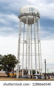McKinney, Texas, United States of America - January 16, 2017. Water tower in McKinney, TX.