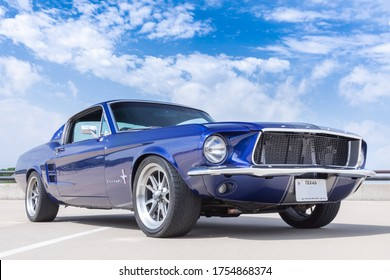 McKinney, Texas USA - May 19, 2O18: Classic 1967 Ford Mustang Fastback