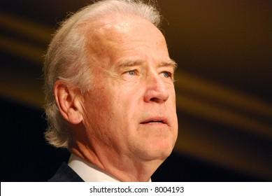 MCLEAN, VA - NOV 30, 2007: Senator Joe (Joseph) Biden speaking at the Democratic National Committee (DNC) meeting on November 30, 2007, in McLean, Virginia.