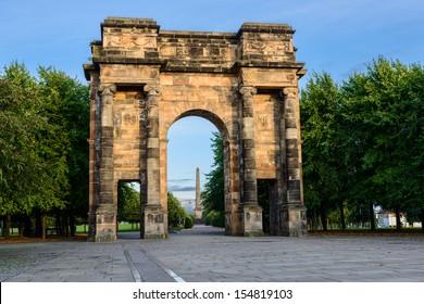 McLennan Arch, entrance to Glasgow Green, Scotland, UK