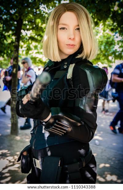 Mcm London Comic Con 2018 Black Stock Photo Edit Now 1110343388