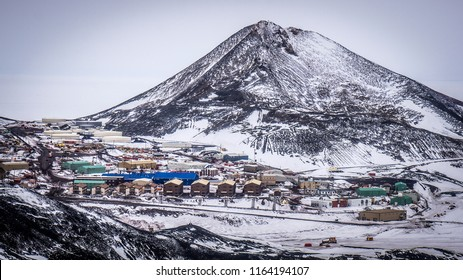 McMurdo Station and Observation Hill, Antarctica