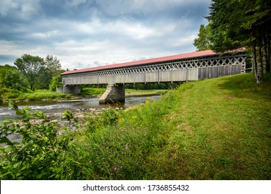 McVetty-McKenzie covered bridge made of wood and dating from 1893 is located in Gould, Lingwick, Estrie, Quebec Canada