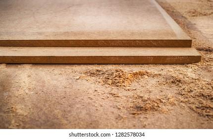 MDF chipboard with sawdust