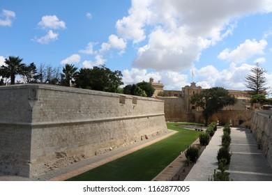 Mdina fortification, Mdina, Malta
