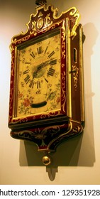 MDINA, MALTA - APR 19, 2018 - Antique wall clock St Paul's Cathedral, Mdina, Malta