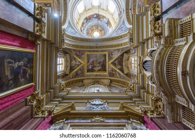 Mdina, Malta - July 5, 2018: Interiors of St Pauls Cathedral E, Build 1696-1705, the country's oldest church
