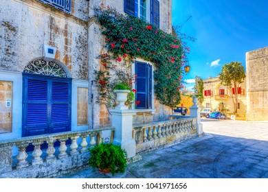 Mdina, Malta - November 11, 2015 : Mdina City street view . Mdina is populer tourist destination in Malta.