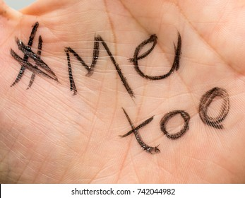 # Me too written in the palm