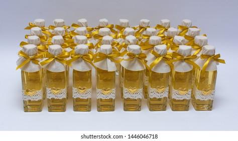 Mead in decorative bottles - mead honey