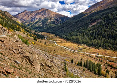 Meadow along Independence Pass Road, in autumn. Colorado.
