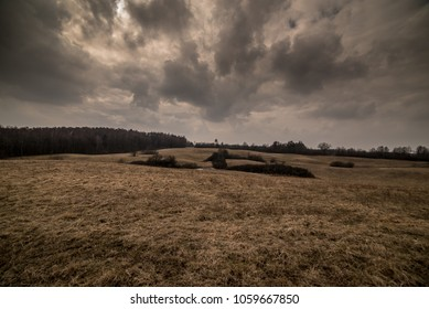 Meadow with dramatic sky