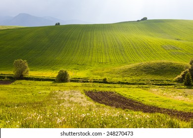 Meadow and Hills in Slovakia - Shutterstock ID 248270473