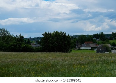 Meadow landscape, somewhere in the Eifel, Germany
